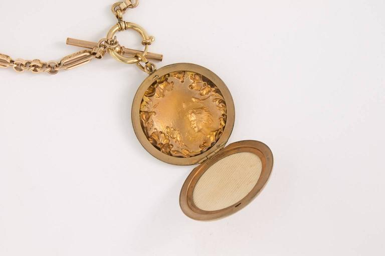 Women's Art Nouveau Gold Filled Locket For Sale