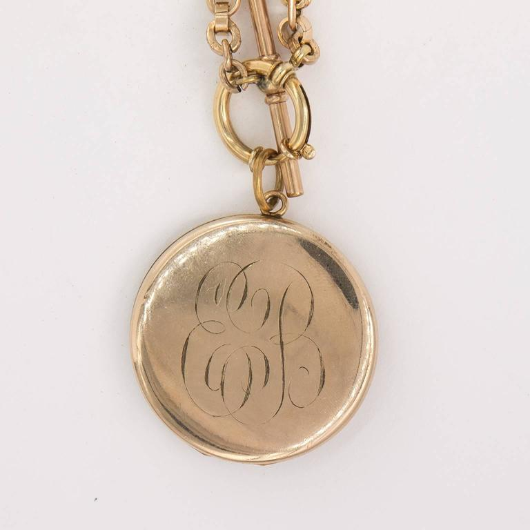 Art Nouveau Gold Filled Locket For Sale 5
