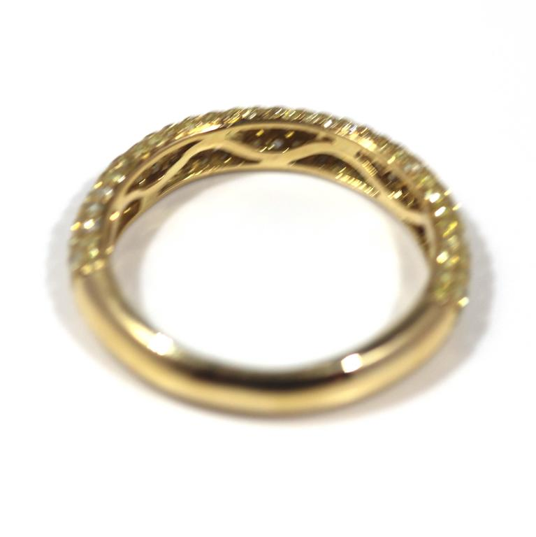 18 carat yellow gold and half eternity ring at 1stdibs