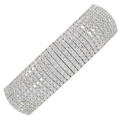 Classic Diamond Cuff Spring Bangle