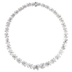 Classic Diamond Platinum Wreath Necklace