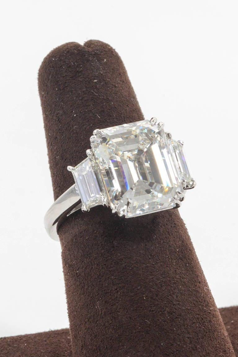 Incredible 7 Carat Gia Certified Emerald Cut Diamond