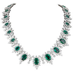Important Emerald and Diamond Necklace