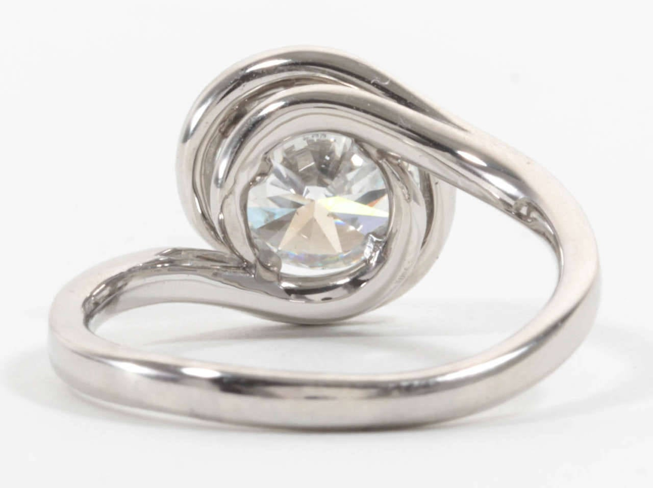 unique swirl platinum engagement ring for sale at