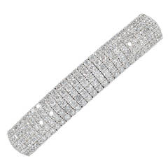 Diamond Set Spring Cuff