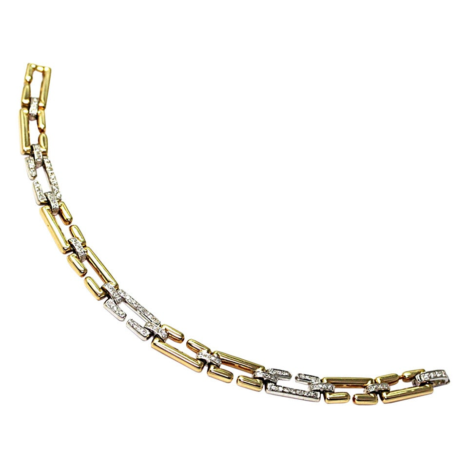 Cartier Diamond Gold C Bracelet 1