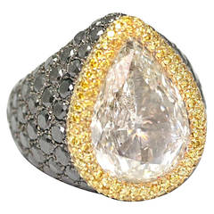 de Grisogono 10.85 Carat Pear-Cut Diamond Gold Ring