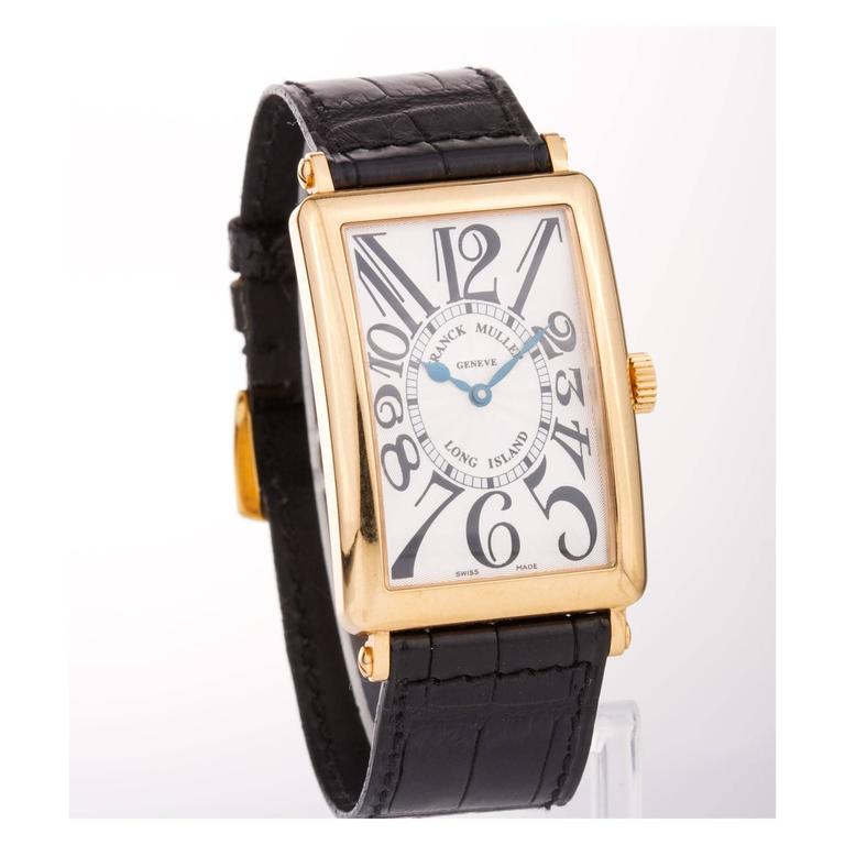 Franck Muller Yellow Gold Long Island Master Complications Automatic Wristwatch In Excellent Condition For Sale In Monte Carlo, MC