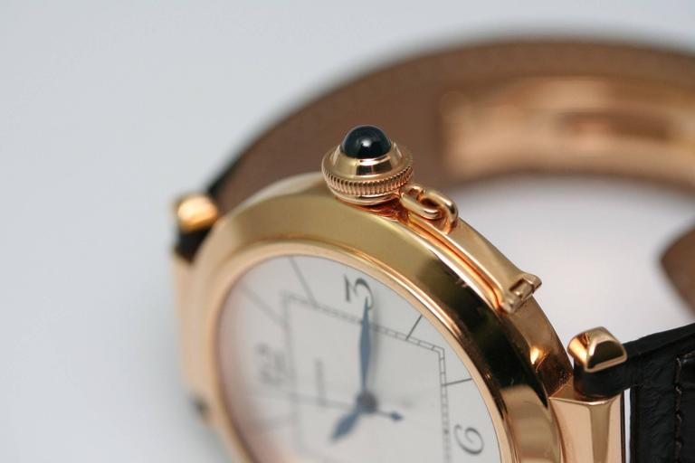 Cartier Rose Gold Pasha Automatic Wristwatch In Fair Condition For Sale In Monte Carlo, MC
