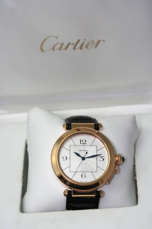 Women's or Men's Cartier Rose Gold Pasha Automatic Wristwatch For Sale