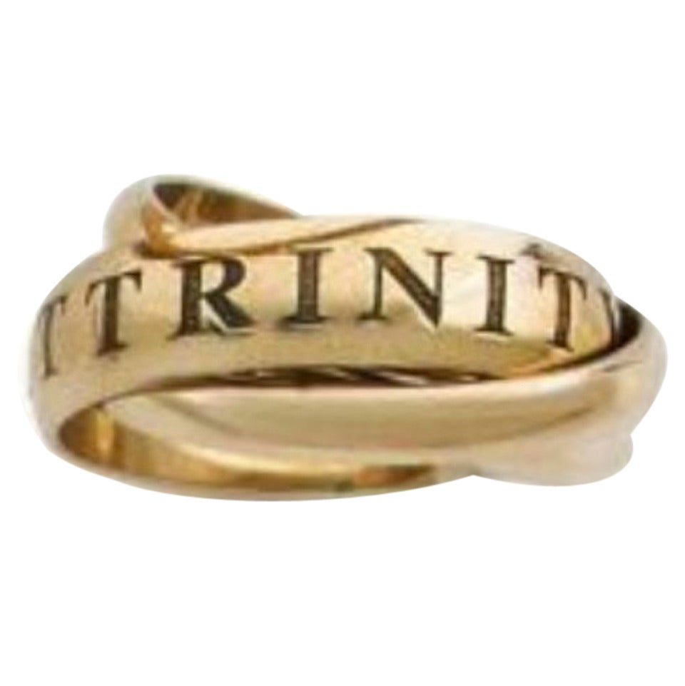 cartier three color gold ring at 1stdibs