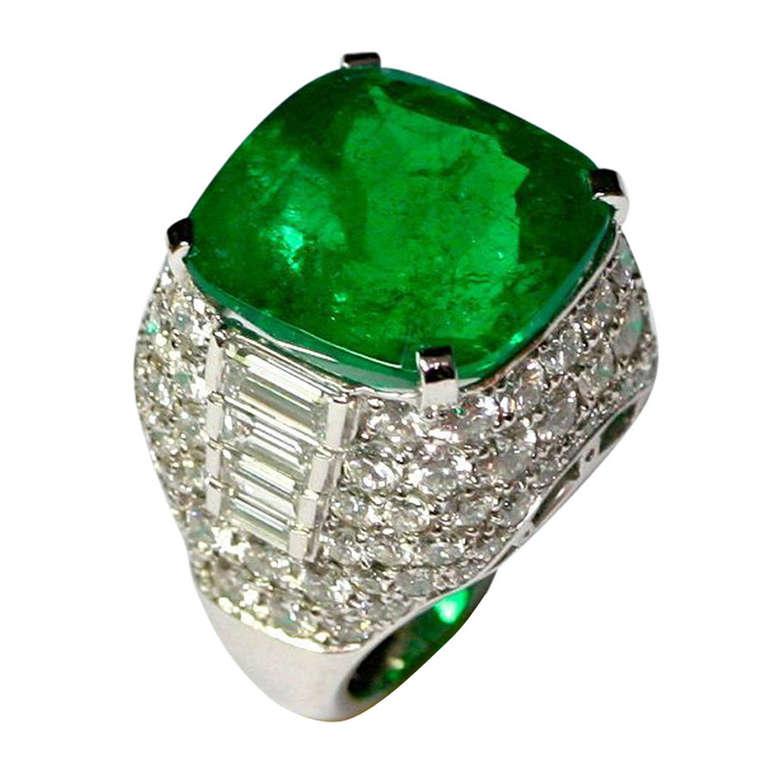 columbian emerald ring at 1stdibs