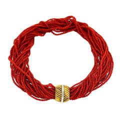 Sardinia Red Coral Necklace
