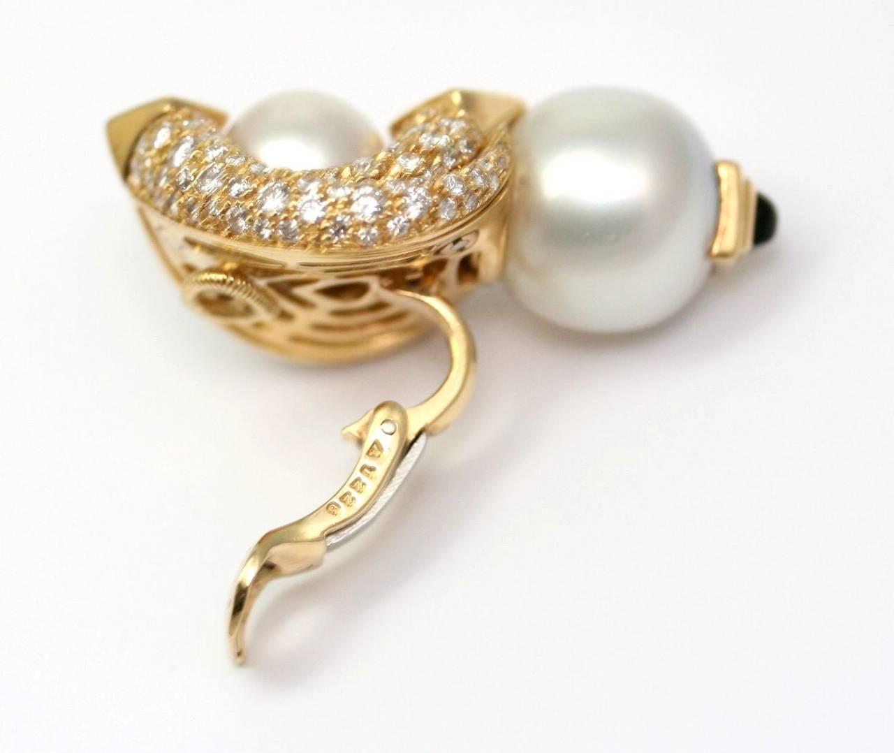 Marina B. Loreto 1988 Pearls Diamonds Yellow Gold 4