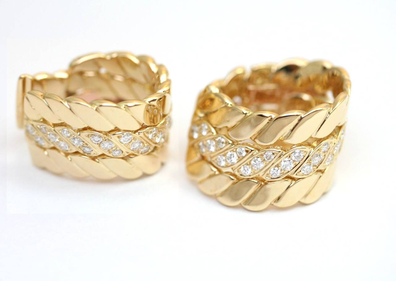 M.Gerard Paris Diamond Gold Ear Clips 3