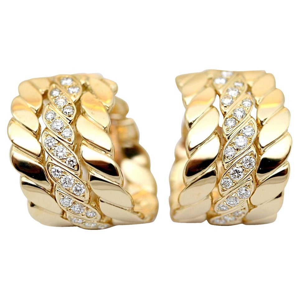 M.Gerard Paris Diamond Gold Ear Clips 1