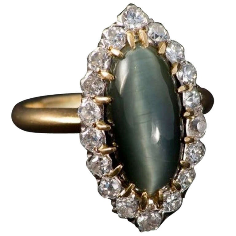 Marquise Cat's Eye Ring 1