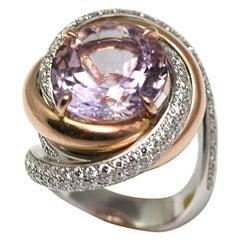 Cartier Paris Amethyst Diamond Gold Ring