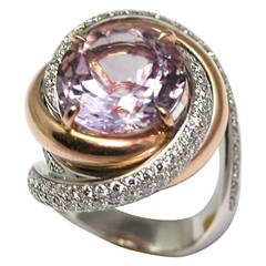 Cartier Paris Amethyst Diamond Gold Ring