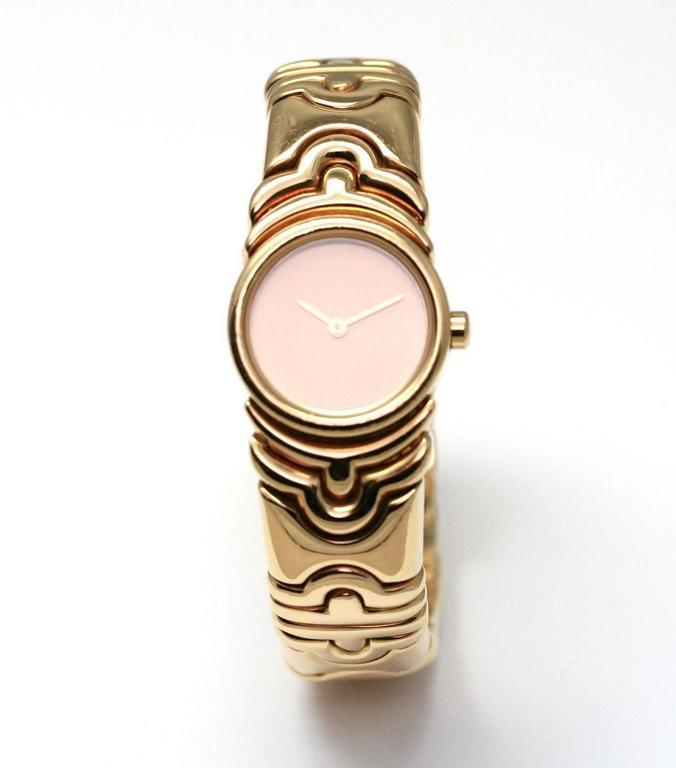bvlgari parentesi gold watch at 1stdibs