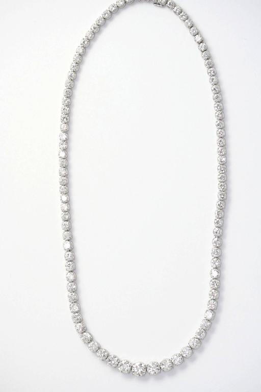 Cartier Diamond Gold Riviere necklace  For Sale 1