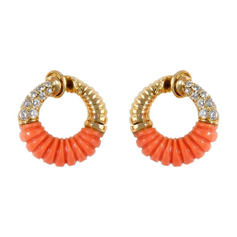 Van Cleef & Arpels Coral Earrings 2
