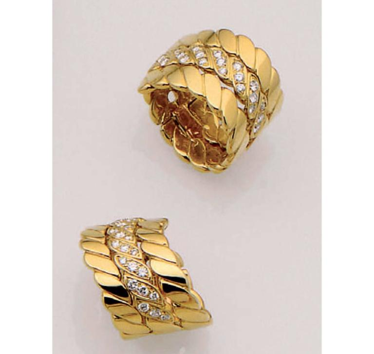 M.Gerard Paris Diamond Gold Ear Clips 4