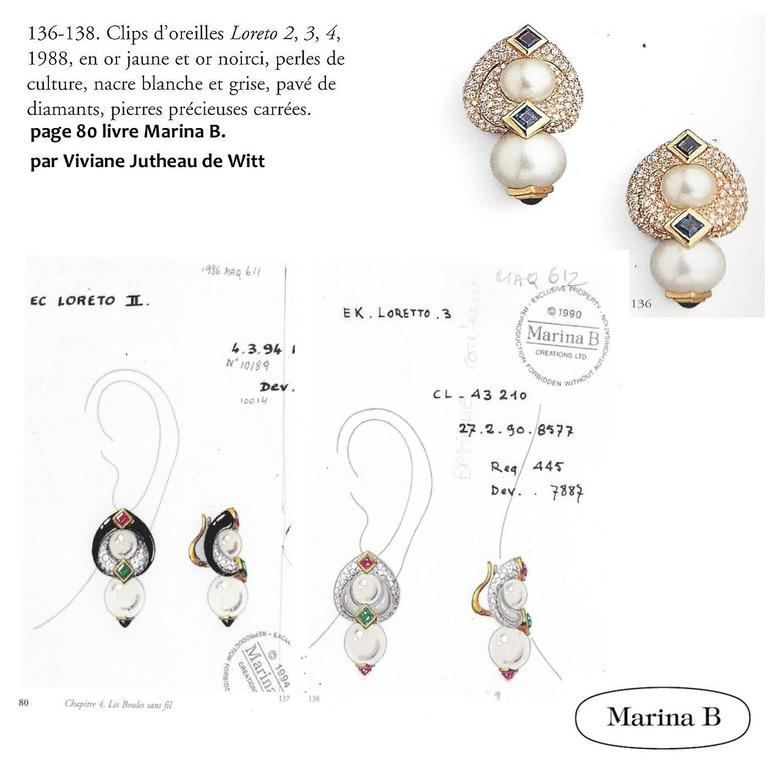Marina B. Loreto 1988 Pearls Diamonds Yellow Gold 5