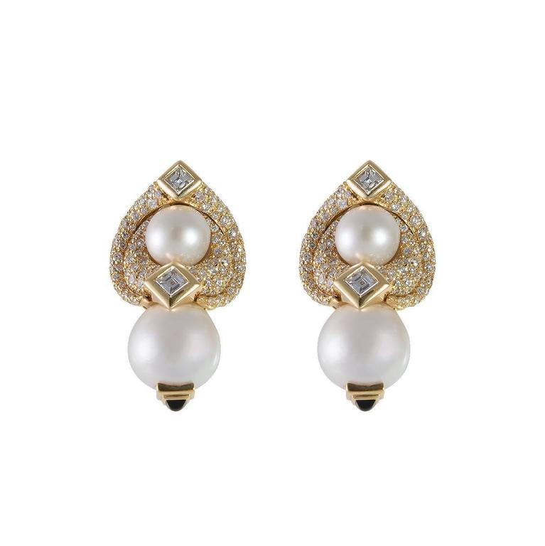 Marina B. Loreto 1988 Pearls Diamonds Yellow Gold 6