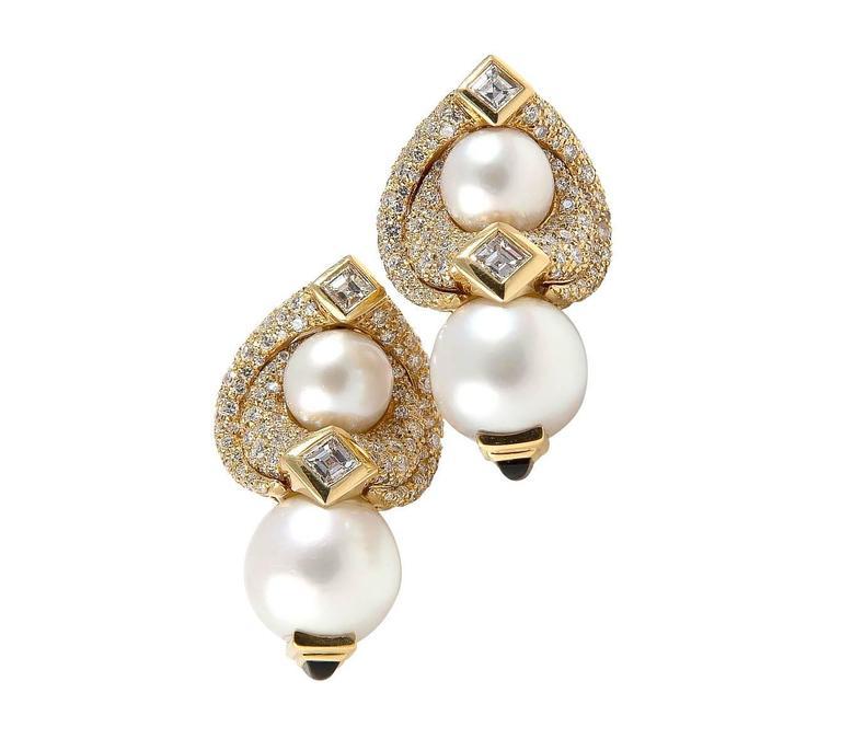 Marina B. Loreto 1988 Pearls Diamonds Yellow Gold 3