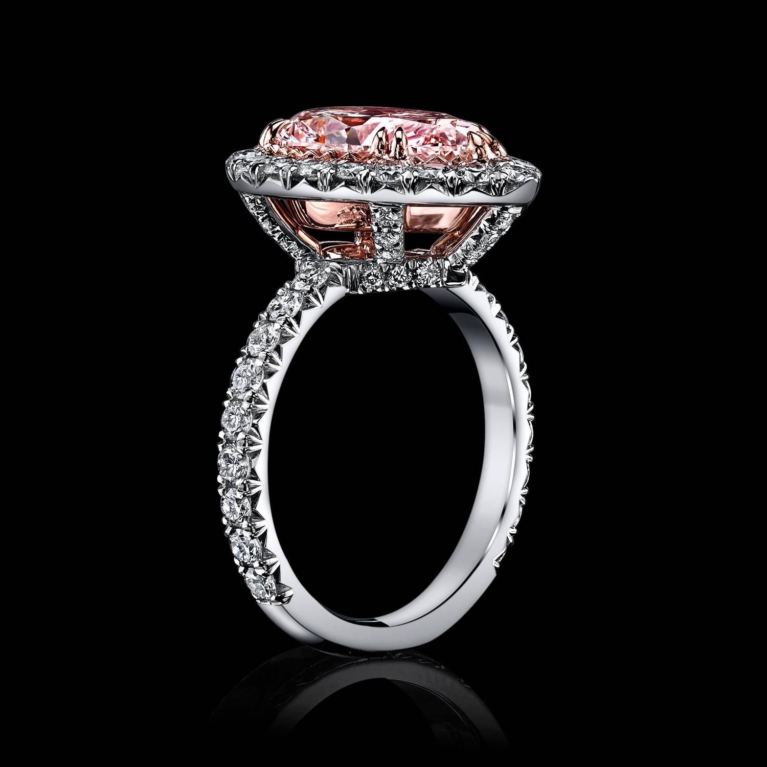 Luxury Light Pink Diamond Engagement Rings