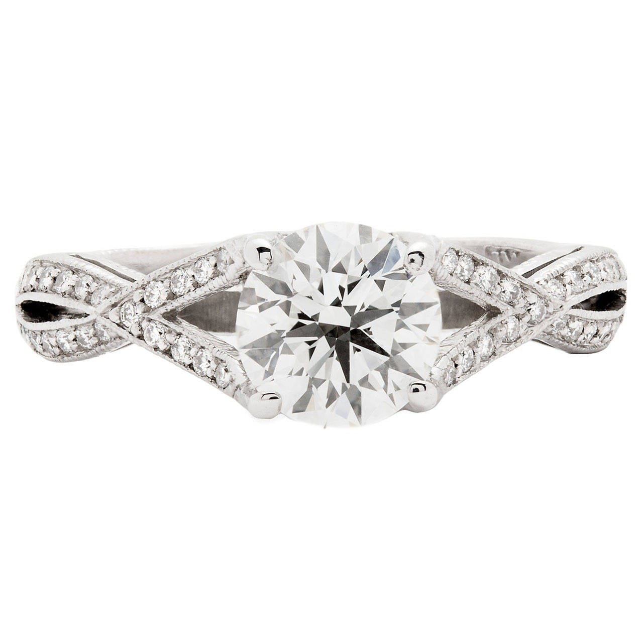 tacori ribbon twist engagement ring for sale at 1stdibs