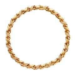 Chaumet Diamond Gold Necklace