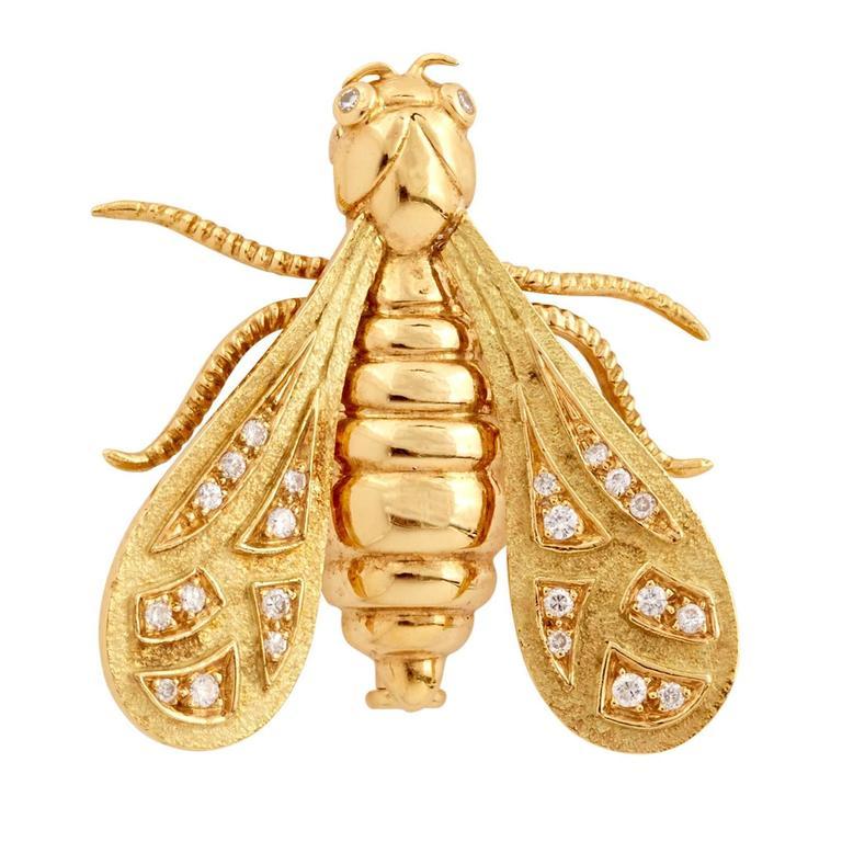 Chaumet Diamond Gold Bee Pin