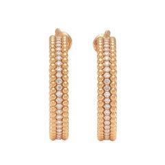 Van Cleef & Arpels Perlee Diamond Hoop Earrings