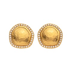 Lika Behar Diamond and 22 Karat Gold Earrings