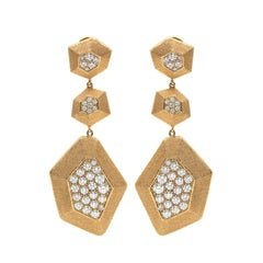 Diamond and Gold Earrings by Mimi So