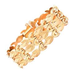 Retro Yellow Gold Bracelet