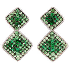 Salavetti Tsavorite Gold Earrings