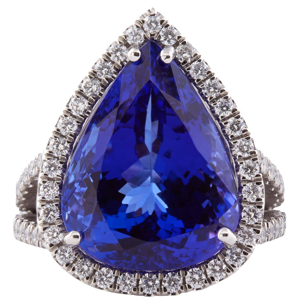 natural solid tanzanite ring fashion ctw diamond carat gold blue and products white