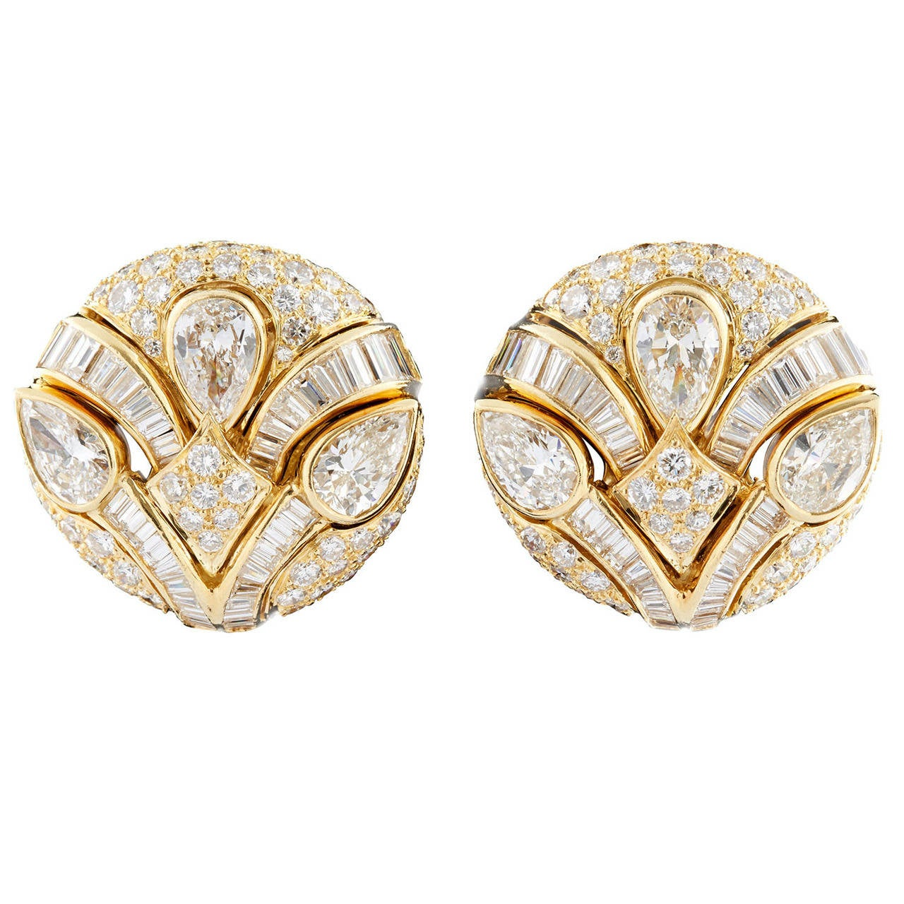 Impressive Bulgari Diamond Button Earrings 1