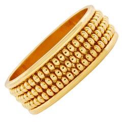 Chaumet Three-Row Gold Bead Bangle Bracelet