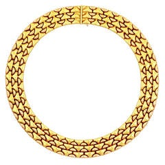 Bulgari Two Color Gold Link Choker Necklace