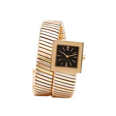 Bulgari Lady's Three Color Gold Quartz Serpenti Wristwatch