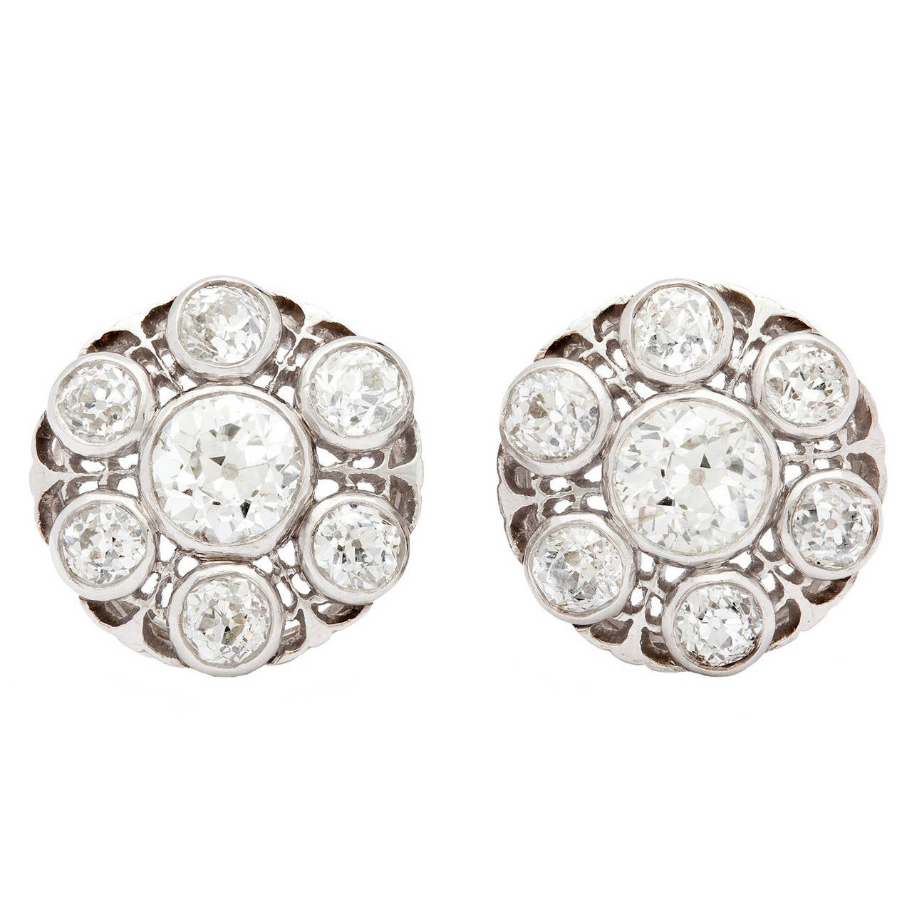Victorian Old European Cut Diamond Earrings