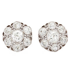 Victorian Old European Cut Diamond Earrings