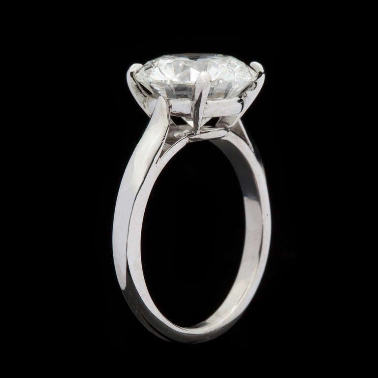 Cartier 4 20 Carat Solitaire Diamond Ring At 1stdibs