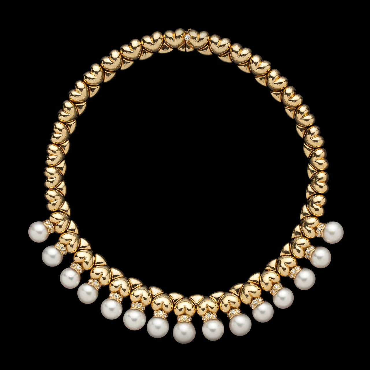 garrad jewelry garrard pearl gold link necklace at 1stdibs 4521