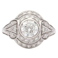 1.02 Carat GIA Certified Diamond Platinum Ring