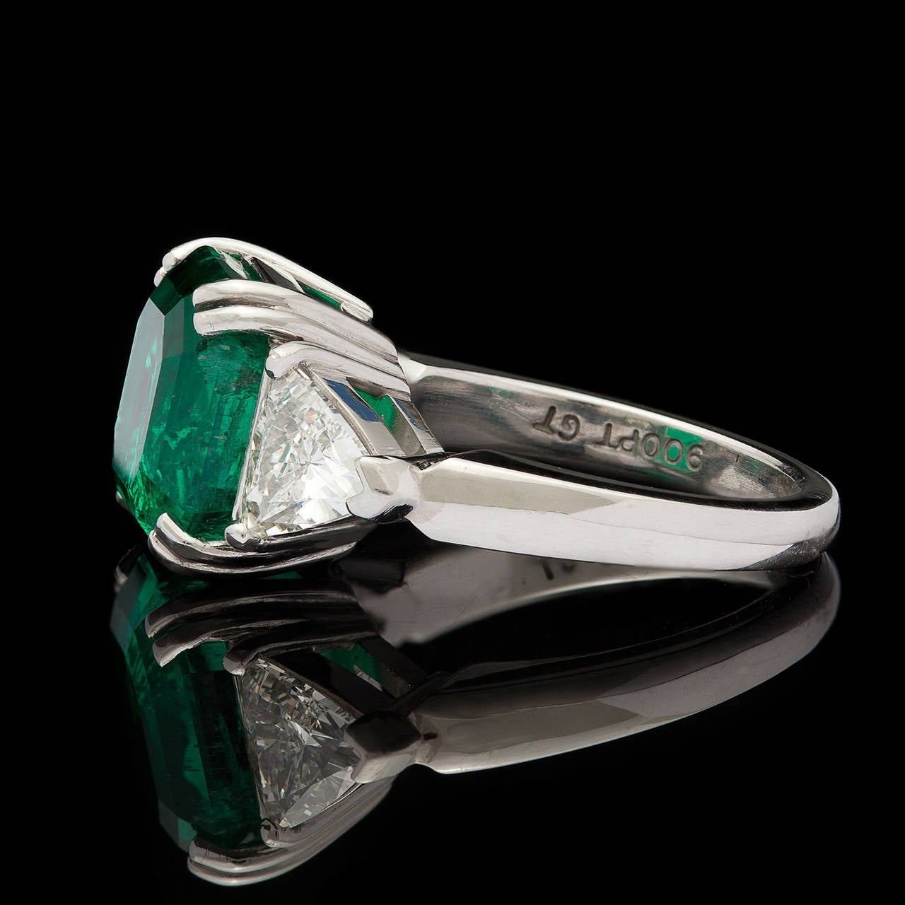 5 40 carat emerald platinum ring at 1stdibs